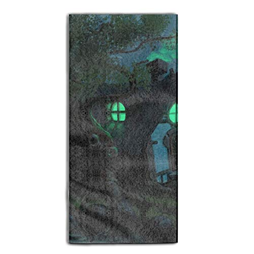 ewtretr Strandtücher Printed Guest Towel Dark Witch Halloween Fantasy Bath Towel Decorative Beach Towels 31