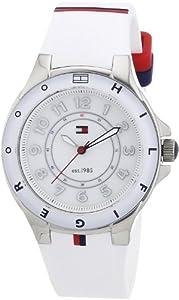 Reloj Tommy Hilfiger 1781271 de cuarzo para mujer con correa de silicona, color blanco de Tommy Hilfiger