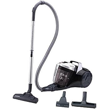 Hoover Breeze BR30PET Aspirador Trineo sin Bolsa, Ideal para suelos de parquet y especial mascotas, depósito 2L, 78dBA, 550 W, Negro y Gris Transparente
