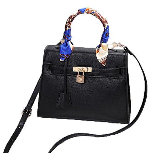 FZHLY La Moda In Europa E Lo Stile Degli Stati Uniti Borsa Messenger Bag Lady Lock,DeepWineRed Black