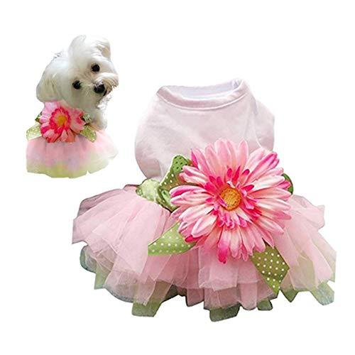 CYXYX Pet Daisy Flower Gaze Tutu Hund Kleid Weste Bekleidung Rock Kleidung Pet Puppy Bowknot Prinzessin Kleidung Für Hunde Und - Daisy Blume Hund Kostüme