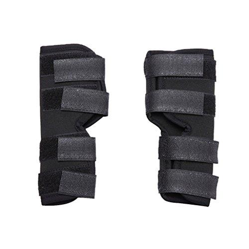 perfk Kniebandage Bein Bandage Neopren Knieschutz mit Klettverschluss für Hund Haustier - M