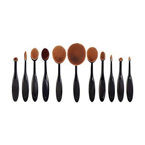 kamoku101 11PZ ovale crème souffle Pinceau cosmétique brosse à dents Brosses Maquillage Fondation Puissance forme