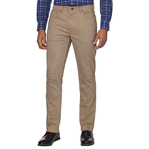 DKNY Men's Brushed Bedford Slim Straight Twill Pant -