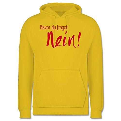 Statement Shirts - Bevor du fragst Nein! Rot - Männer Premium Kapuzenpullover / Hoodie Gelb