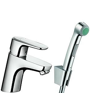 Hansgrohe 32126000–Alcachofa para WC para baño Intime Bidette con grifo mezclador de lavabo Ecos cromo