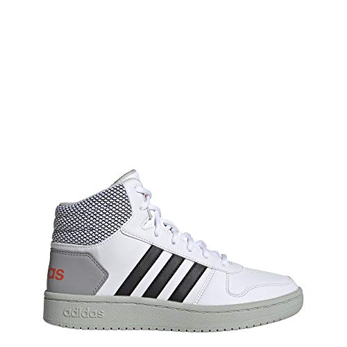 adidas Unisex-Erwachsene Hoops MID 2.0 K Basketballschuhe, Mehrfarbig (Ftwbla/Negbás/Placen 000), 39 1/3 EU