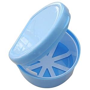 Milopon Zahnprothesenbecher Zahnspangendose mit Sieb Zahnersatz box Zahnersatz case Prothesendose Farbe zufällig