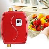Haofy Mini 3800W scaldabagno elettrico istantaneo, scaldabagno senza serbatoio 220V per lavaggio mani/viso/stoviglie, caldaia per cucina e bagno, adatto per cucina, bagno