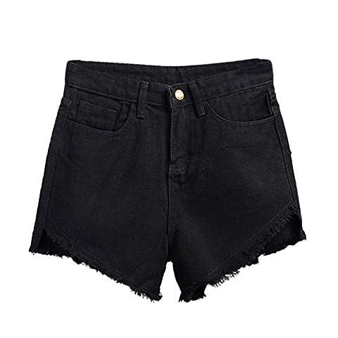 ZKOO Femme Décontractée Taille Haute Jeans Courts Jeans Denim Shorts