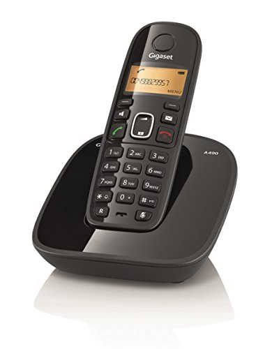 Gigaset A490 Cordless Phone (Black)  available at amazon for Rs.2099