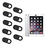 TUPARKA 9Pack Webcam Cover Laptop Camera Cover for Smartphones Tablets Macbooks Computers Desktops, Protecting Privacy and Security, Black