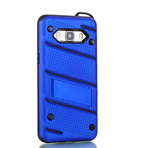 EKINHUI Case Cover Dual Layer Hybrid Armor Schutzhülle Shockproof Stoßfänger mit Kickstand für Samsung Galaxy J5 2016 ( Color : Green ) Blue