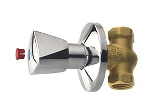 Cornat T303004 Up-Ventil Robinet 1/2'' avec poignée triangulaire chaud/froid