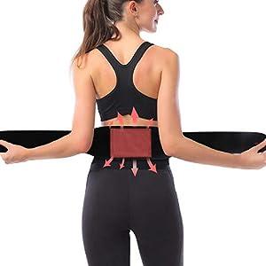 Graphene USB Heizkissen Elektrischer Wärmegürtel Beheizbarer Gürtel Nierenwärmer 3 Temperaturstufen Abschaltautomatik für Rücken Bauch Nacken Herren Damen