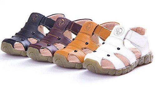 Evedaily Enfant Fille Garçon Sandales Randonnée Sport de Plein Air Chaussures Ete Confortable Marron