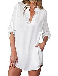 Amazon.co.uk: Striped - Blouses & Shirts / Women: Clothing