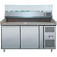 Mesa de pizza refrigerada 6 o 9 GN 1/3 - Profundidad 800 - AFI Collin Lucy 6 x 1/3
