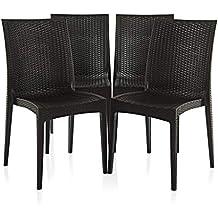 Varmora Designer Club Chair Set of 4 (Black)