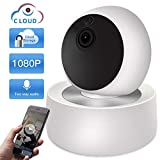 Surveillance Camera WiFi Sdeter Cloud 2Mp 1080P CCTV Wireless WiFi IP Camera Home Security Camera Surveillance WiFi Night Vision 2 Way Audio Baby Monitor (en Anglais) Pâle