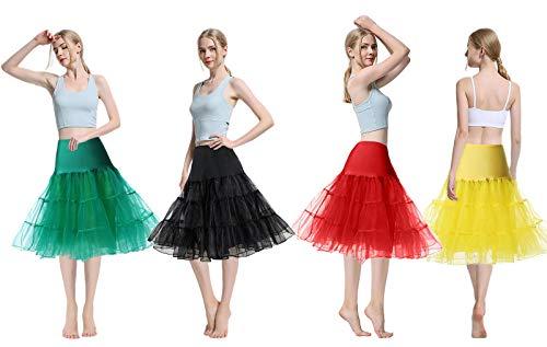 NUOVA Gonna Tulle Petticoat 2-Veli senza Anelli sotto gonna classico Crinolina brevemente 60cm