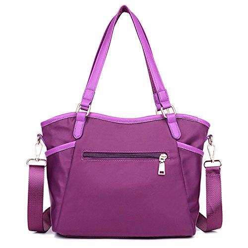 MeCooler Handtasche Mode Umhängetasche Designer Tragetasche Schultertasche Damen Taschen Mädchen Messenger Bag für Lässig Lila