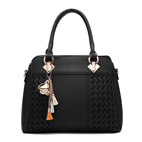 (JUSTSELL ▾ Damen Handtasche ,Groß Schultertasche Shopper Gewebte Muster Handtasche Mode Damen Vintage Umhängentasche Anti Diebstahl Tasche Hobo Tasche Schulter Umhängetasche Mehrzweckumhängetasche)