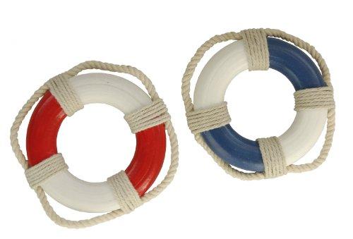 Mini-Rettungsringe, blau oder rot, rot/weiß