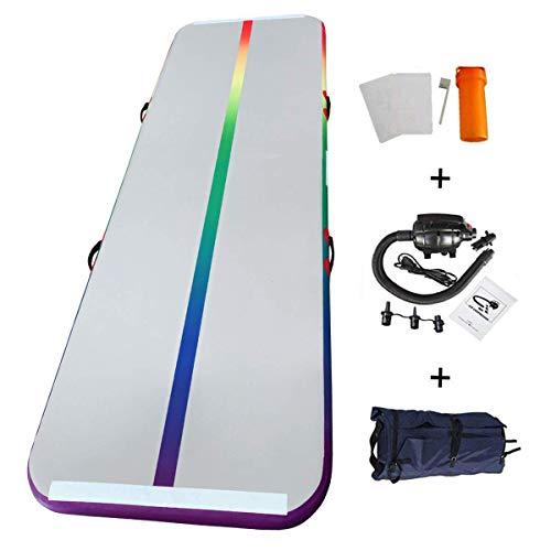 Home U Airtrack für Gym Training Air Floor Yoga Trainingsmatten Aufblasbare Sport Matratzen (4x1x0.1m, Bunt)