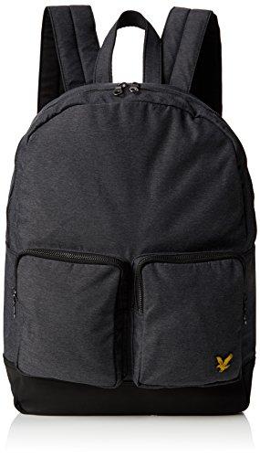 lyle-scott-unisex-adults-marl-2-pocket-rucksack-top-handle-bag-grey-grey-marl