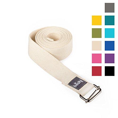Yoga-Gurt ASANA BELT aus Baumwolle mit Schiebeschnalle aus Metall, praktisches Yoga-Zubehör, Basic Hilfsmittel nicht nur für Anfänger (natur)