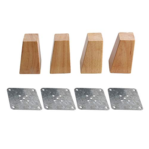 Patas de madera de roble para muebles, sillón de aparador, reposabrazos