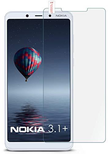 moex 9H Panzerfolie für Nokia 3.1 Plus | Panzerglas Bildschirm Glasfolie [Tempered Glass] Screen Protector Glas Bildschirmschutz-Folie für Nokia 3.1 Plus Schutzfolie
