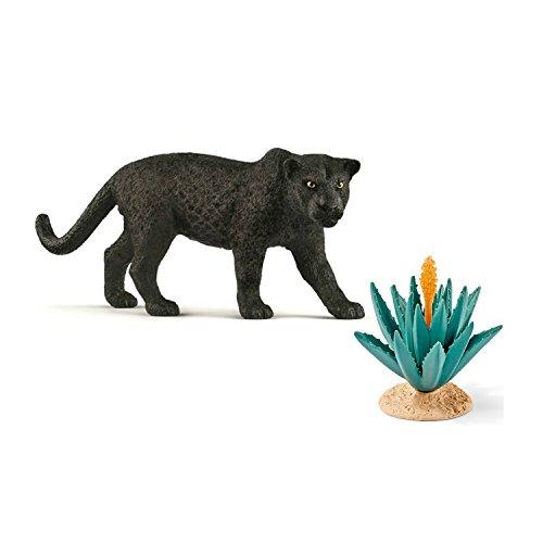 Schleich Spiel-Figuren-Set Wild Life Schwarzer Panther 14774 mit Agave 42243