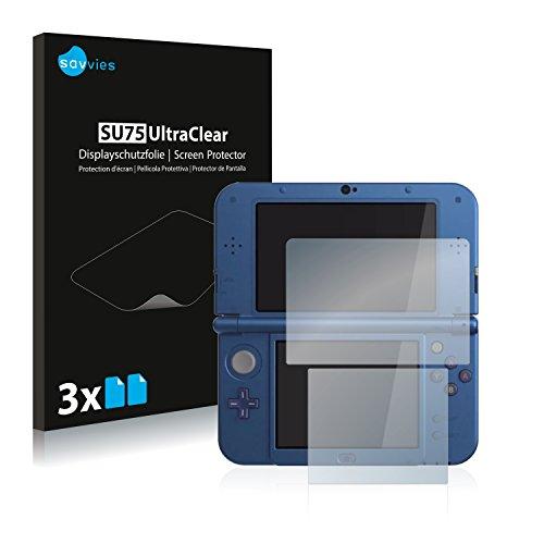 Nintendo New 3DS XL Schutzfolie - [6er Set] Savvies kristallklare Displayschutzfolie Folie Displayfolie