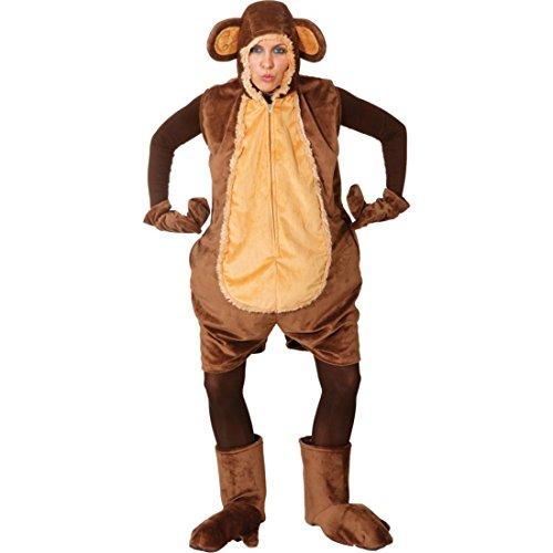 Deluxe Affen Kostüm für Damen Tierkostüm Fastnacht Affenkostüm Straßen Karneval Outfit - Affe Kostüm Damen Für