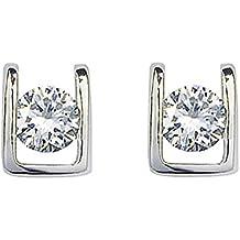 Swarovski Elements orecchini in oro bianco 18 ct Finish - Ideale regalo per le donne e le ragazze - Viene in scatola regalo