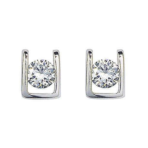 Swarovski Elements Ohrringe in 18ct White Gold Finish - Ideal Geschenk für Frauen und Mädchen - kommt in (März Kostüm Herr)