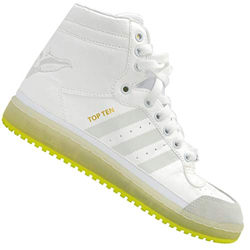 adidas Originals Kinder Star Wars TOP Ten YODA Schuhe Sneaker Glow IN The Dark, Farbe:Weiß, Schuhgröße:EUR 33