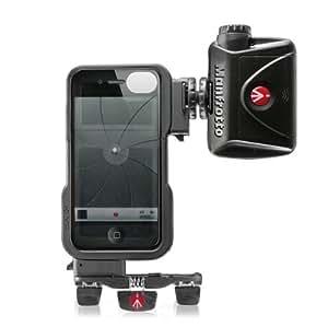 Manfrotto MKPLKLYP0 Case für Apple iPhone 4S inkl. ML240 LED-Videoleuchte, Stativanschluss und Pocket-Stativ