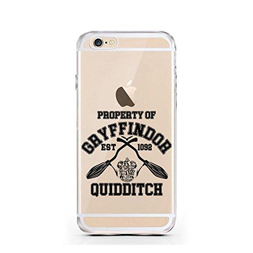 iPhone 7 Hülle von licaso® für das Apple iPhone 7 aus TPU Silikon Harry Potter Hogwarts Zauberer Magic Hermine Ron Muster ultra-dünn schützt Dein iPhone 7 & ist stylisch Schutzhülle Bumper in einem (i Property of Gryffindor