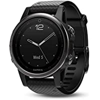 Garmin Fenix 5S Sapphire Multisport Watch, 42 mm (Black with Black Band)