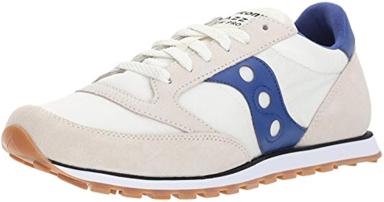 Saucony Originals Men's Jazz Low Pro Sneaker, GREAM/BLUE, 37.5 D(M) EU/4 D(M) UK