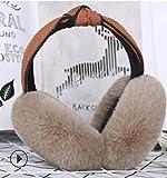 Winter Ohrenschützer Ohrenschützer Weiblich Mode Falten Ohrenwärmer Warm Ohrentasche Braun Halten Sie Die Ohren Warm und Modisch Ausgestattet