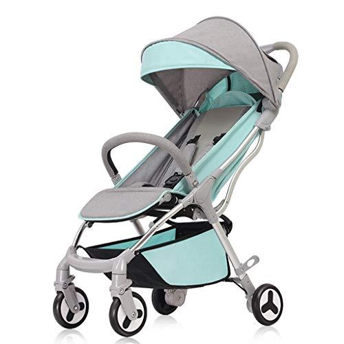 Ultraleichte Faltbare Kinderwagen Kinderwagen können sitzen stützende Baby Trolley Kinderwagen Stoßdämpfer Neugeborene Kinderwagen Buggys (Color : Blue, Größe : 24.8 * 12.59 * 39.76inchs)