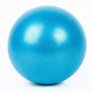 PUER Gymnastikball, 25 cm, Extra dick, bruchsicher, strapazierfähig, für Yoga-Bälle (1 Stück) mit aufblasbarem Strohhalm (1 Stück)