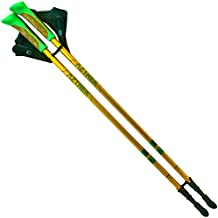Aztrek ligero bastones telescópicos de marcha nórdica negro senderismo bastón de aluminio–para los hombres/mujeres, ajustable plegable anti-shock–Mangos de corcho