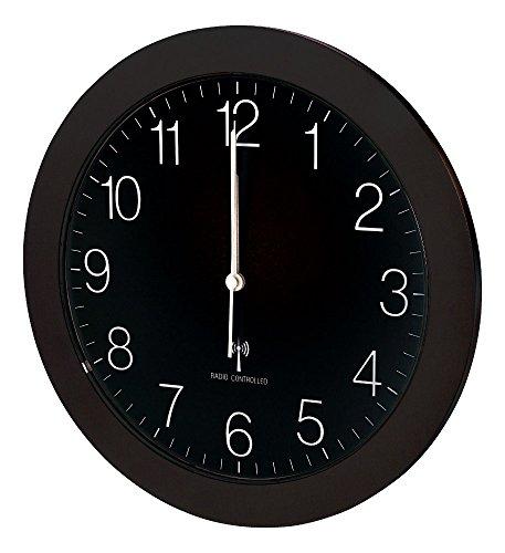 Funk-Wanduhr TFA 60.3512 mit Lautlos Sweep-Uhrwerk, 300 mm (Schwarz)