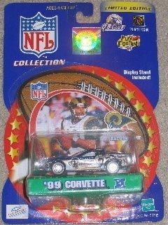 St. Louis Rams Kurt Warner 2000 Winner's Circle NFL Diecast Corvette with Kurt Warner Display Stand by Hasbro - Corvette St. Louis