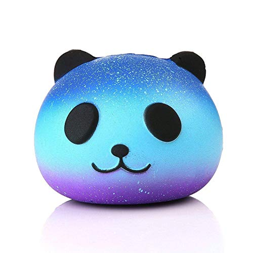 VOOA Squishies Toys, Squeeze Toy, Squishy Slowly Rising Toy für Stress Relief (Galaxy Panda:8.5*6.5*7cm)